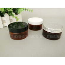 Âmbar coloridos pet jar com plástico e alumínio tampa (PPC-ATC-0106)