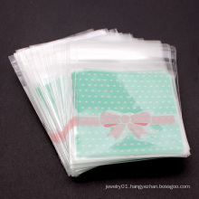 7 X 7cm 100pcs/set Self Adhesive Transparent Bowknot Design OPP Plastic Package For Bracelets Earrings Gifts Bags