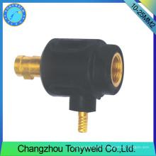 10-25mm2 torpille de soudage tig femelle adepteur de câble arrière