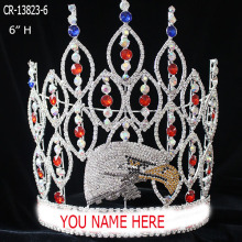 Venta al por mayor Bird Eagle Rhinestone Pageant Crown
