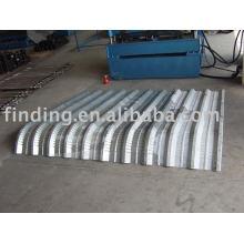 Curving steel sheet