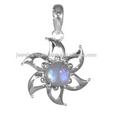 Rainbow Gemstone 925 Solid Silver Pendant Jewelry