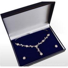 Silberne Halsketten-Kasten / Halsketten-Birnen-Kasten (MX-284)