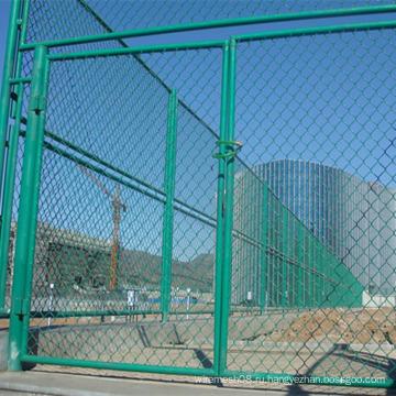 Зеленый цвет ПВХ покрытием цепи ссылка забор