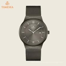 Herren Quarz Edelstahl Casual Watch, Farbe: Grau 72543