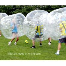 Nuevo Estilo Compra 0,8 Espesor TPU y PVC Adultos Bubble Knocker balón de fútbol de medio color TPU burbuja balón de burbuja de fútbol para adultos