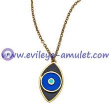 Three-Color Enamel Evil Eye Necklace Wholesale