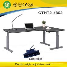 3 ноги Электроуправляемые стол с регулируемой высотой основания и L формы высота регулируемый рабочий стол с мотором