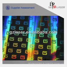 Holographisches Blatt für holographische Kunststofffolie