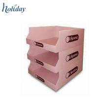 Boîte de présentation de compteur de carton de 3 rangées, boîtes de présentation de dessus de carton de modèle