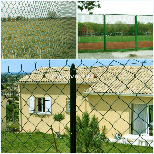 wire chain link fence
