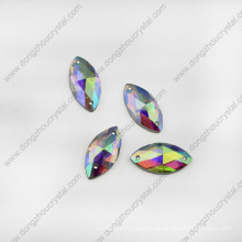 Navette Crystal Glass Schmucksteine für Schuhe Nähen