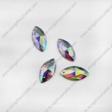 Pierres de bijoux en verre de cristal de Navette pour la couture de chaussures