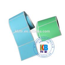 Бумага с покрытием белая клейкая наклейка на рулон