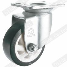 Ruedita giratoria mediana resistente de PU (G6220)