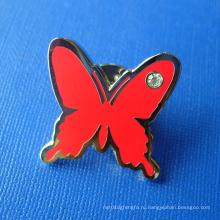 Пользовательские бабочка Мягкий эмаль Pin Металл Знак (GZHY-SE-030)
