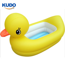 Best selling yellow PVC inflatable duck tub for  baby Swimming Pool