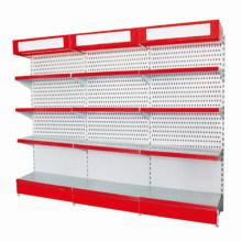 Metal Designer Single Cosmetic Display Gondola Shelf with Light Box