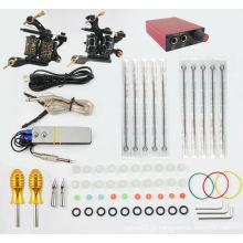 TK104002 Kit de Tatuagem Profissional 2 Máquinas Pistola de Fornecimento de Pedal Switch Needles Set KIt