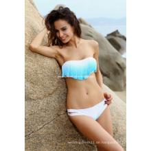 Neueste sexy Damen Padded Boho Fringe Bademode trägerlosen Quaste Bikini Set