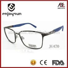 Quadro de óculos ópticos de metal para homens 2015 com logotipo OEM