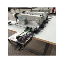 QS-842JF wig periwig hairpiece double needle lockstitch three machine head weft machine wig sewing machine