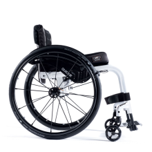 White color lightweight power electric wheelchair drive kit folding e-wheelchair with wheels for disabled