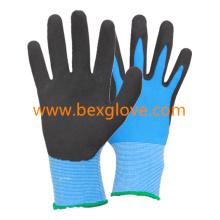 13 Gauge Nylon Liner, Latex Coating, Sandy Finish Glove