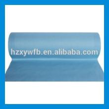 Traverser le tissu non-tissé de Spunlace de pulpe de bois de polyester visqueux croisé / parallèle