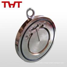 non-return wafer single plate handwheel check valve for water