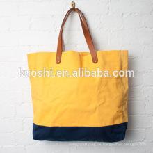 Canvas Taschen mit Leder