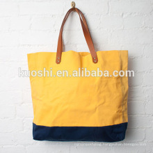 Canvas bags with leather