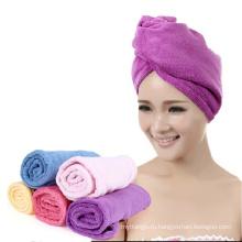 новый дизайн махровые микрофибра сушки волос полотенцем тюрбан полотенца обернуть