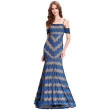 Kate Kasin Sexy Spaghetti Straps Long Blue Lace Prom Dress 2016 KK000134-1
