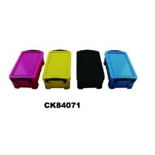 El Color de caramelo papelería superpuestas caja de almacenamiento