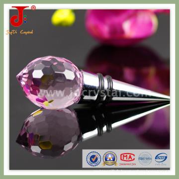 Bouchon de bouteille de vin en cristal pour cadeau de mariage (JD-WS-407)