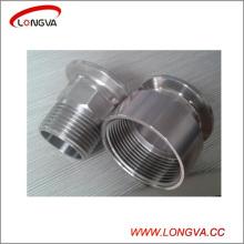 Adaptateur fileté à trois épaisseurs en acier inoxydable sanitaire en acier inoxydable