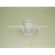 Taza de café y platillo reales blancos del café express de la porcelana de la venta caliente