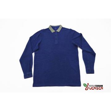 Jacquard-Kragen aus 100% Baumwolle mit langen Ärmeln