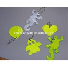 Прекрасная светоотражающая цепочка для ключей, мягкая цепочка для ключей из ПВХ Custom, Reflect Craft Product