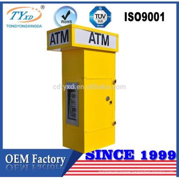 ATM equipment bank kiosk enclosure for cash dispenser