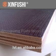 Placa impermeável anti-derrapante película de 12mm marrom enfrentou contraplacado painel de madeira para construção