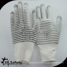 SRSAFETY 13G polyester U3 coated gloves/Safety Glove/working gloves