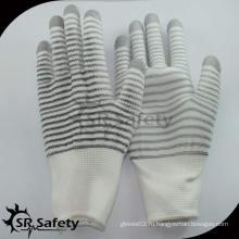 SRSAFETY 13G полиэфирные перчатки с покрытием U3 / Защитные перчатки / рабочие перчатки