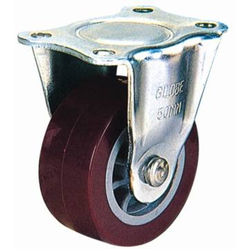 Roulette en PU fixée à la lumière (rouge)