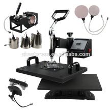 Multifuncional combo 8in1 T Shirt Mug Cap Impresión de la máquina