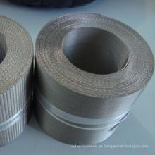 Paño filtrante holandés de la malla de la armadura del revés del acero inoxidable 304 para la máquina de la película del estiramiento