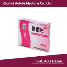 OEM&GMP Certificated Folic Acid Tablets