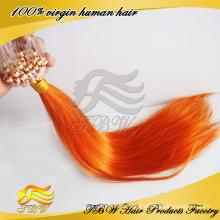 Indische Mirco Ring Loop Orange Haarverlängerung