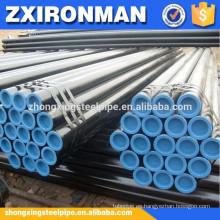 Tubos de tubos de acero negro sch40 astm inconsútil a106-B acero pipa/acero negro